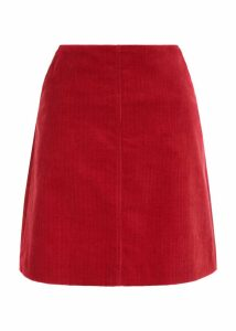 Hannah Corduroy Skirt Red