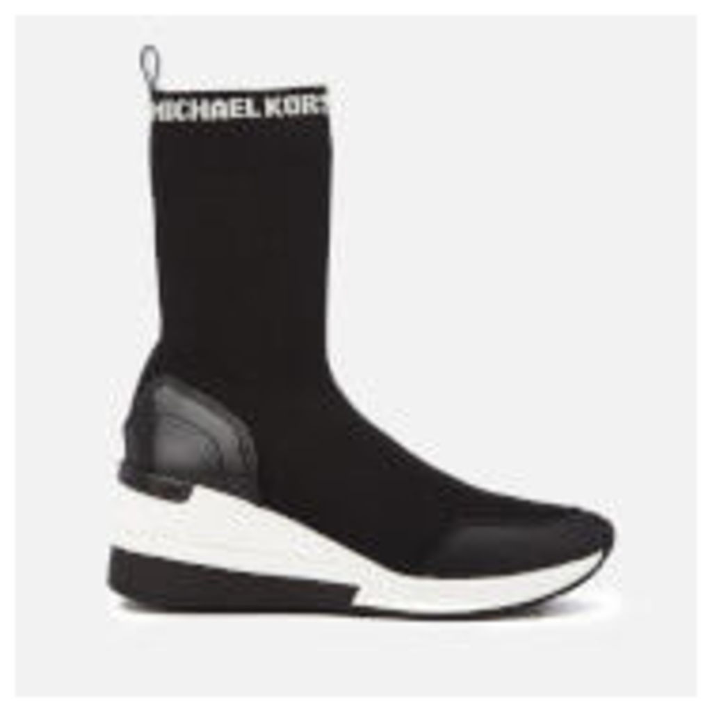 MICHAEL MICHAEL KORS Women's Grover Knitted Trainer Boots - Black