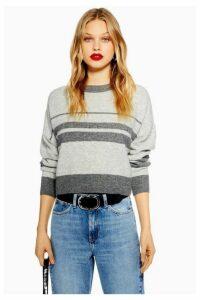 Womens Super Soft Stripe Jumper - Grey, Grey