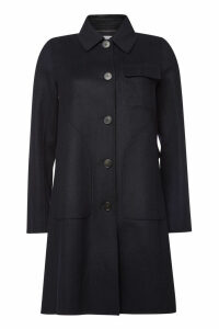 Carven Wool Coat with Cashmere