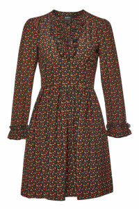 A.P.C. Mae Printed Silk Dress
