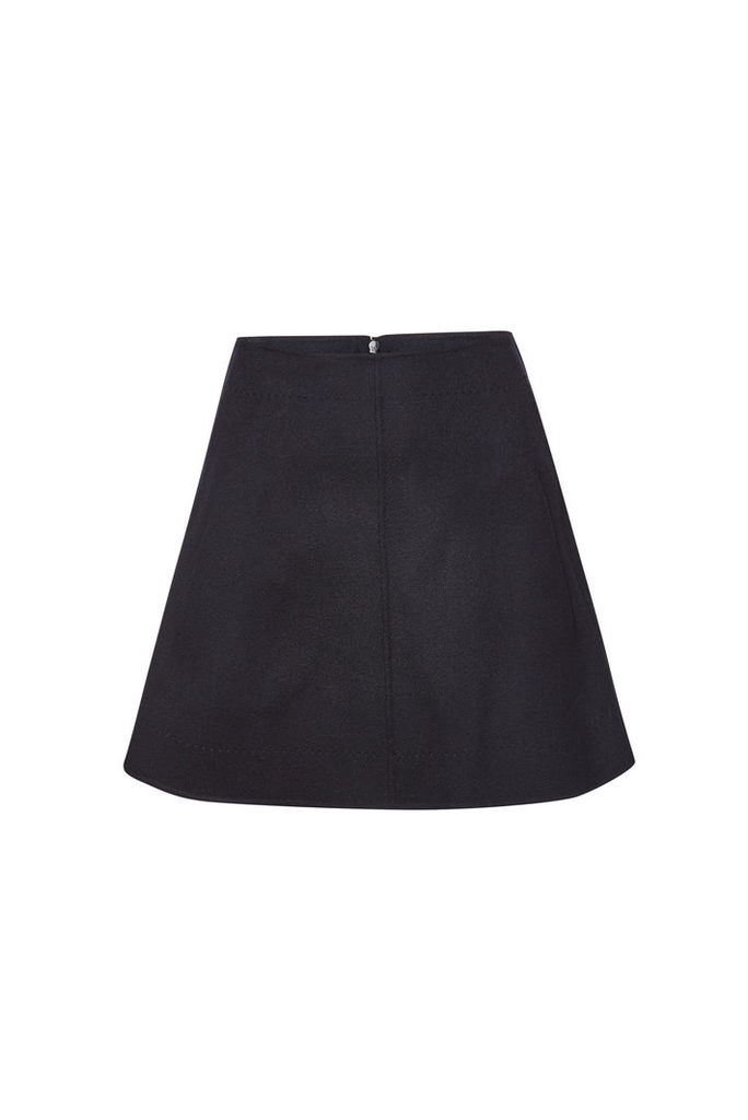 Carven Wool Skirt with Cashmere