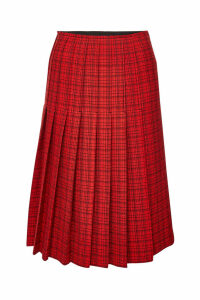 Carven Printed Virgin Wool Midi Skirt