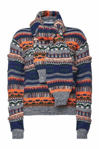 Carven Knit Pullover with Wool, Alpaca and Mohair
