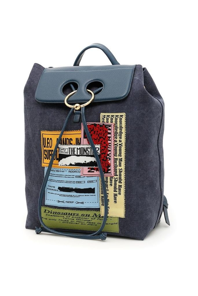 J.W. Anderson Pierce Backpack With Patches