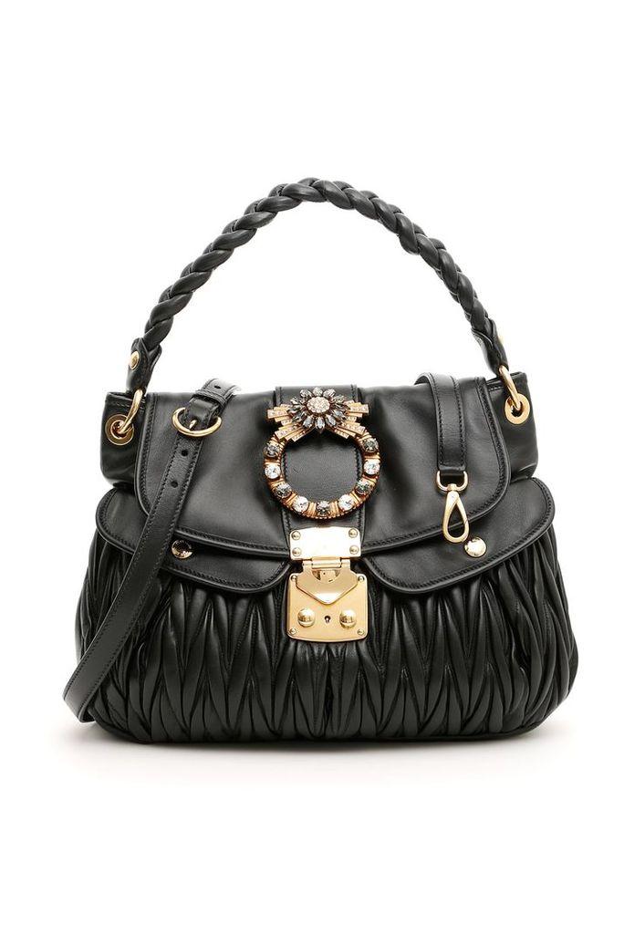 Miu Miu Crystal Buckle Coffer Bag