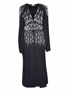 The Attico V-neck Embellished Long Dress