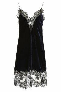 Stella McCartney Velvet Slip Dress With Lace