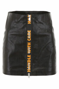 HERON PRESTON Leather Mini Skirt