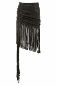 Magda Butrym Leather St. John Skirt With Fringes