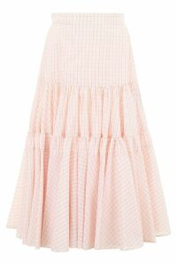 Calvin Klein Midi Check Skirt