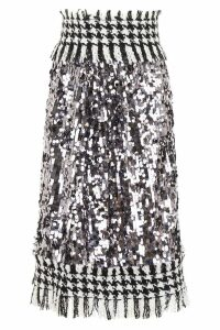 Dolce & Gabbana Tweed And Sequins Skirt