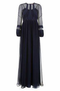 N.21 Long Silk Chiffon Dress