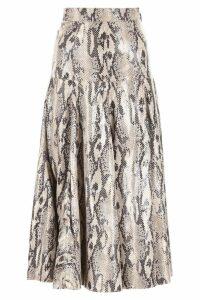 MSGM Python Printed Skirt