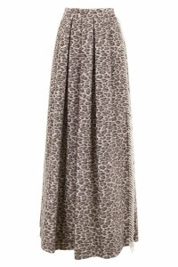 Max Mara Taro Skirt With Leopard Print