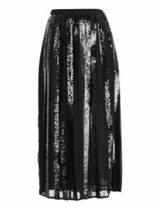 TwinSet Sequin Ribbon Midi Skirt