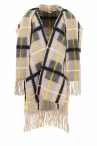 Stella McCartney Check Cape With Fringes