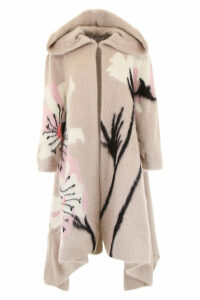 Valentino Maxi Coat With Flowers