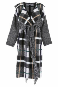 Stella McCartney Check Wool Coat