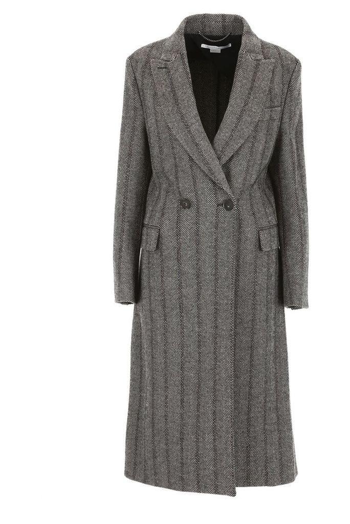 Stella McCartney Herringbone Wool Coat
