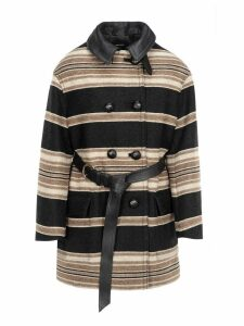 Isabel Marant Isabel Marant Hilda Striped Coat