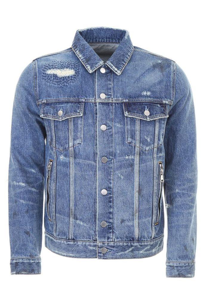 Balmain Vintage Destroyed Denim Jacket