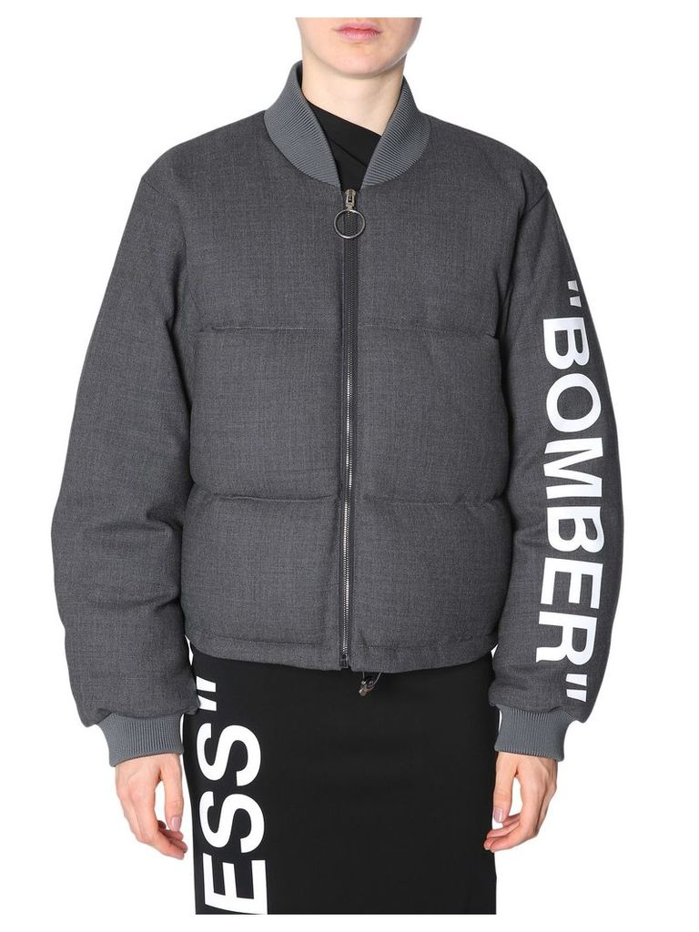 Off-White Oversize Fit Bomber