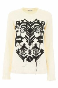 RED Valentino Pullover With Cross-stitch Embroidery
