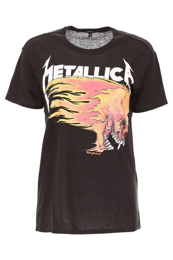 R13 Flaming Skull T-shirt