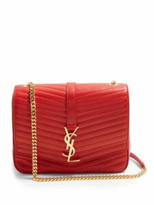 Saint Laurent - Sulpice Small Leather Bag - Womens - Red