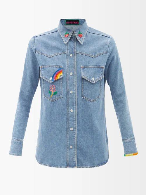 Sies Marjan - Pippa Double Breasted Shearling Coat - Womens - Dark Green