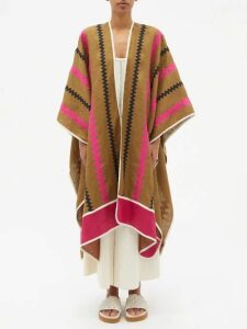 Sies Marjan - Pippa Double Breasted Shearling Coat - Womens - Dark Green