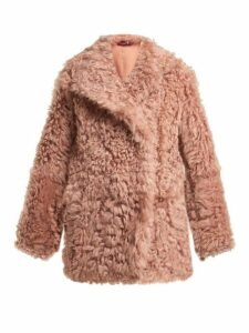 Sies Marjan - Pippa Double Breasted Shearling Coat - Womens - Pink