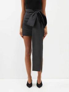 Erdem - Gisella Dutch Petal Print Midi Dress - Womens - Black Pink