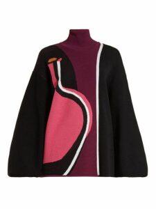 Roksanda - Mylo Abstract Intarsia Knit Top - Womens - Black Multi