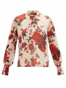 Vetements - Oversized Houndstooth Wool Coat - Womens - Brown Multi