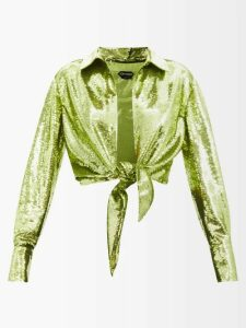 Stella Mccartney - Herringbone Wool Blend Coat - Womens - Grey