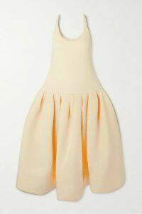FRAME - Velvet-trimmed Satin Blazer - Black