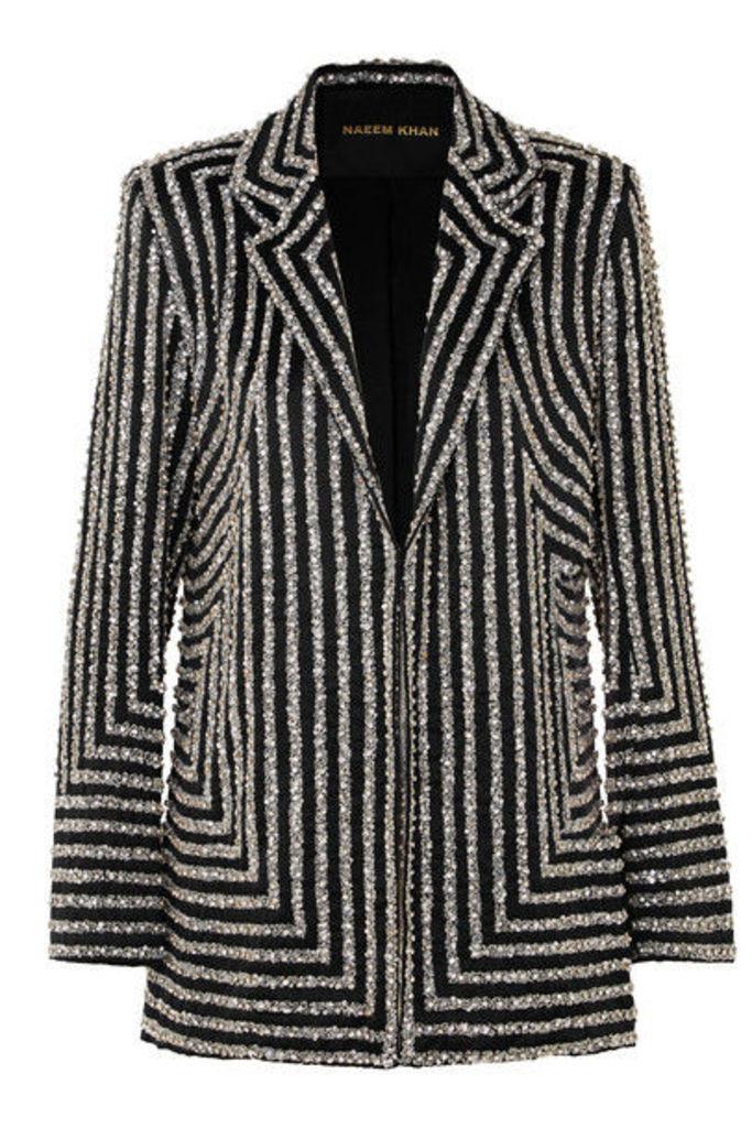 Naeem Khan - Embellished Silk-satin Blazer - Black