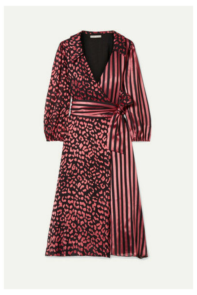 Alice + Olivia - Abigail Devoré Silk-blend Chiffon Wrap Dress - Pink
