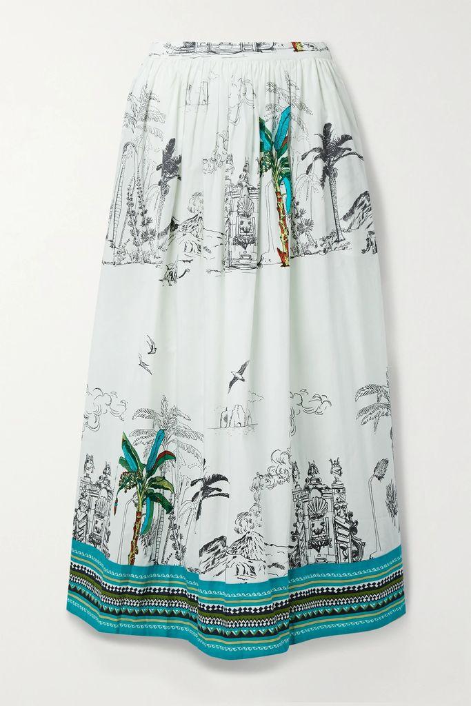 Zimmermann - Corsage Floral-print Linen Maxi Dress - Blush