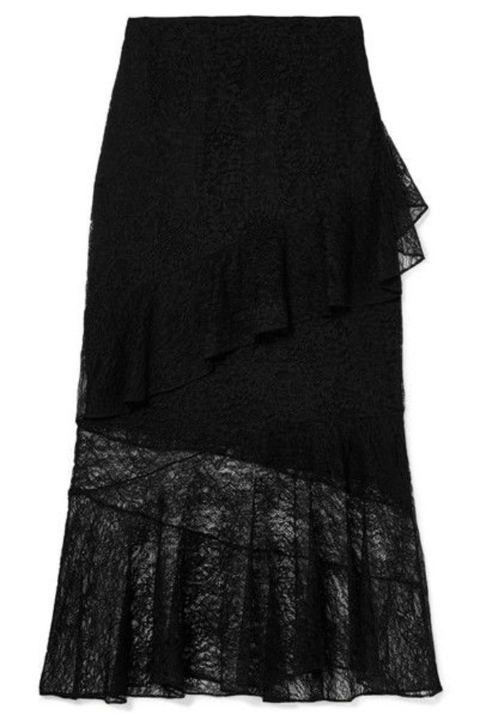 Cushnie - Ruffled Lace Midi Skirt - Black