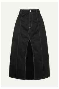 Georgia Alice - Slouch Cotton-drill Midi Skirt - Black