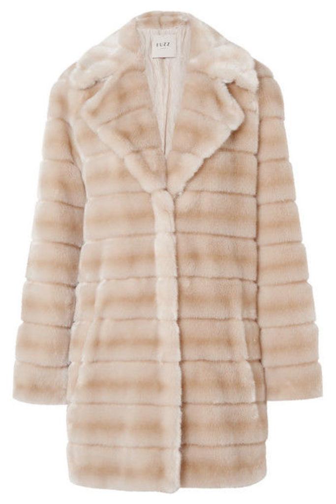 Fuzz Not Fur - Oh My Deer Faux Fur Coat - Beige