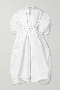 Givenchy - Oversized Glossed Leather-trimmed Leopard-print Shearling Coat - Brown