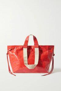 Orseund Iris - Le Funk Silk-satin Shirt - Red