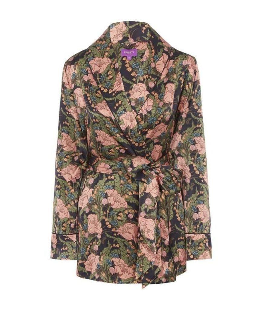 June Silk Satin Wrap Jacket