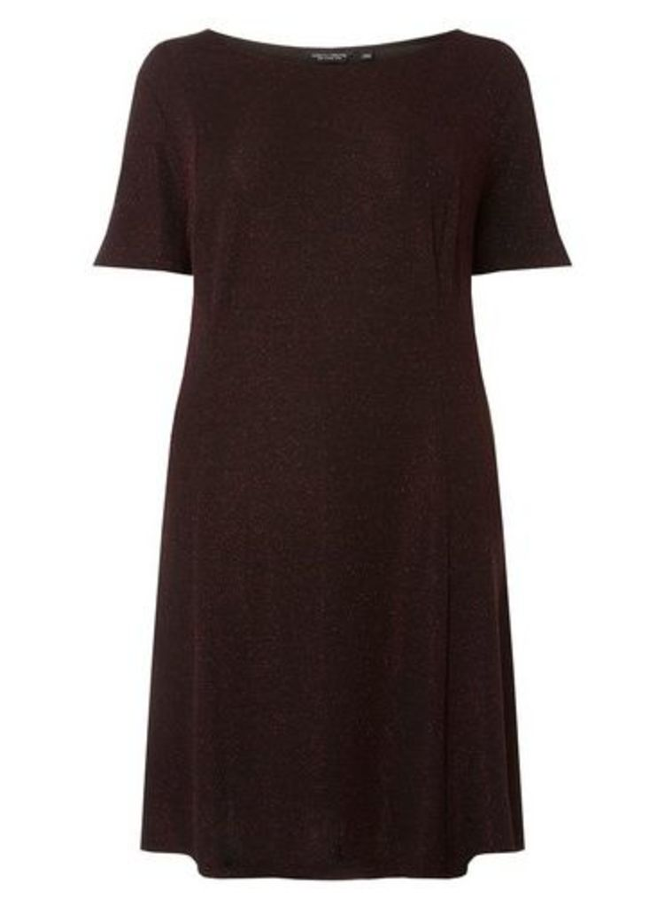 Womens **Dp Curve Burgundy 'Mariah' Skater Dress- Purple, Purple