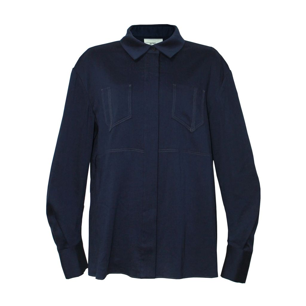 WtR - Faun Cream Silk Long Sleeve Shift Dress