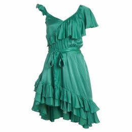 PAISIE - Striped Dress With Neck Pleat